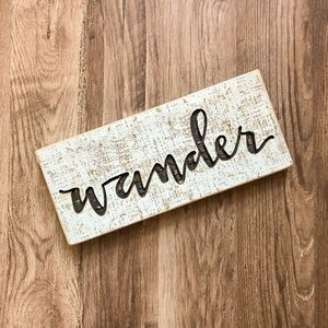 Rustic Wander Wooden Calligraphy Sign